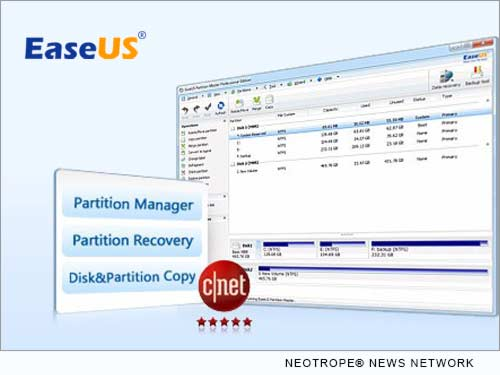 NEW YORK CITY, N.Y. /New York Netwire/ -- EaseUS, one of the top disk management software developers, today announced the release of EaseUS Partition Master 10.2. The latest version improves the WinPE creation process, no longer requires to download the components from the internet during the entire progress. EaseUS Partition Master 10.2 directly grasps ISO/system files to create WinPE bootable disk or Linux bootable disk. In the aspect, the new version improves the efficiency and shortens user operation time.