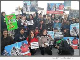 Animal Lovers protest, CBS