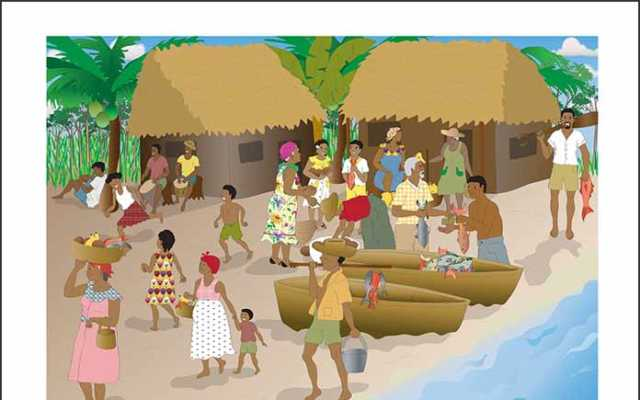 Garifuna Village by Isidra Sabio