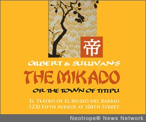 NEW YORK, N.Y. /New York Netwire/ -- The Blue Hill Troupe, Ltd., the only musical theater group in New York City to donate its net proceeds to charity, will unveil a new production of Gilbert and Sullivan's 'The Mikado' with full orchestra, April 12-20, 2013 at El Teatro of El Museo del Barrio. Proceeds will benefit the GO Project.