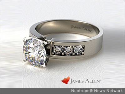 NEW YORK, N.Y. /New York Netwire/ -- James Allen has taken another quantum leap forward with its True-Life Ring Imagery. This state-of-the-art imagery gives jewelry customers the best possible perception of the engagement ring they are about to buy. James Allen is the only luxury retailer to offer this level of quality.